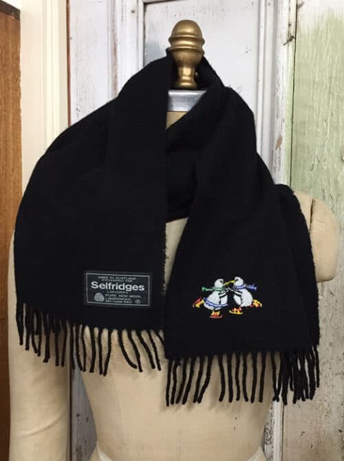 black-with-penguins-scarf
